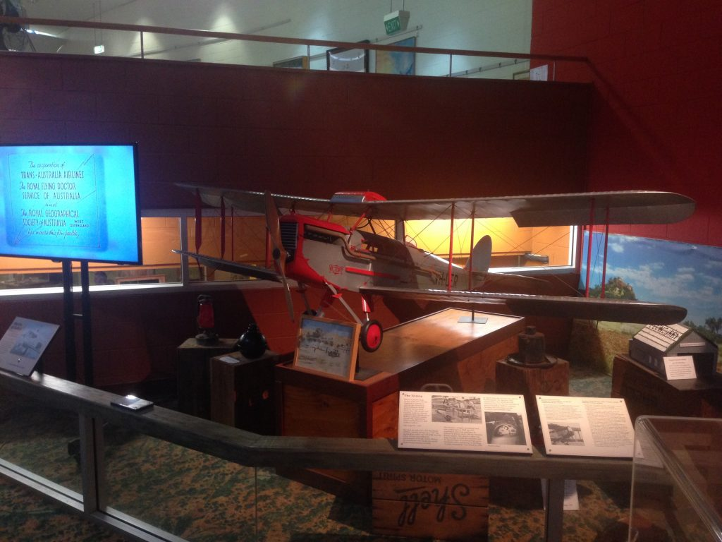 Model of the first Flying Doctor plane