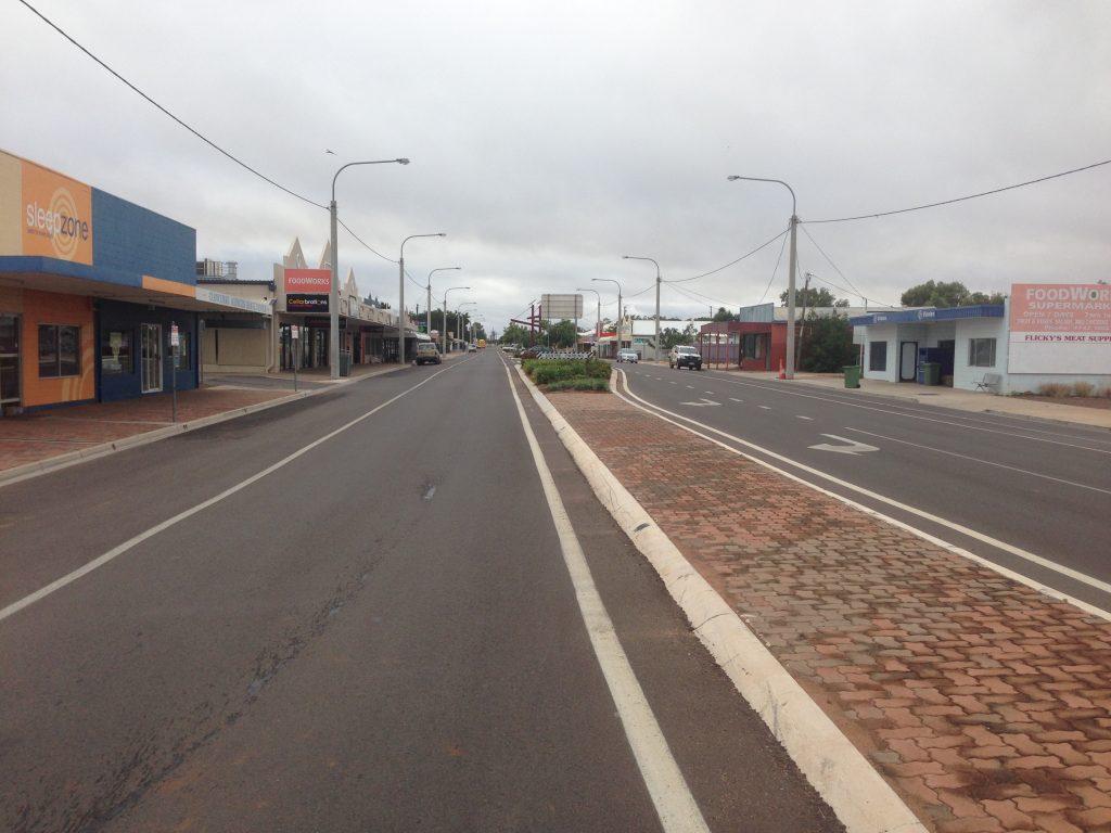 Main street, 9am Sunday morning