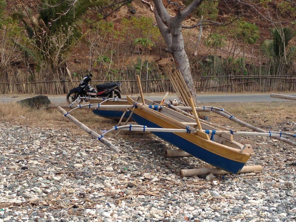 A boat and a bike