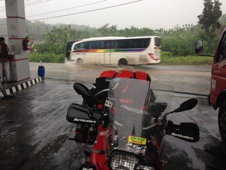 just a bit wet