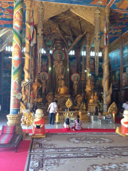 Buddists at worhip